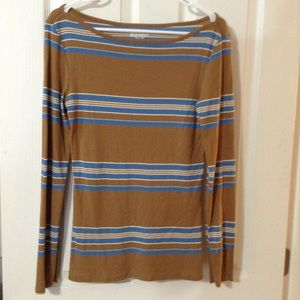 Old Navy Tops - Old Navy M Long-Sleeve Stripe Shirt